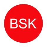 Etikett BSK - rot/weiss