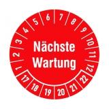 Etikett n?chste Wartung - rot/weiss
