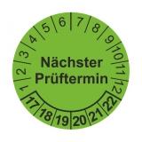 Etikett nä.Prüftermin - grün/schwarz