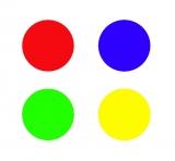Etikett / Punkt d=10 mm, einfarbig, unbedruckt