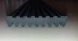 Federgummi / Gummileiste ohne Anschlagkante