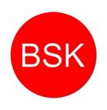 Gravurschild BSK, selbstkl., d=30mm