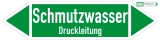 Schmutzwasser Druckleitung - Grün